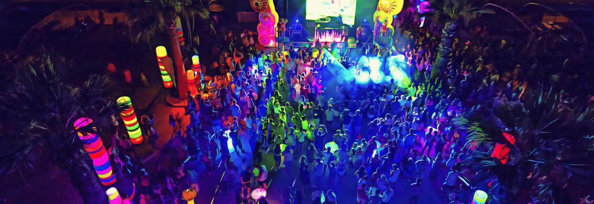 Disco neon lights party